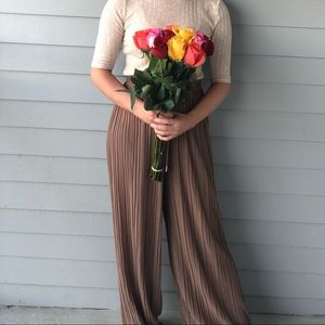 Sheer drapy pants
